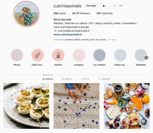 BERTA GARUCKE cukrinis avinelis verslios mamos instagram