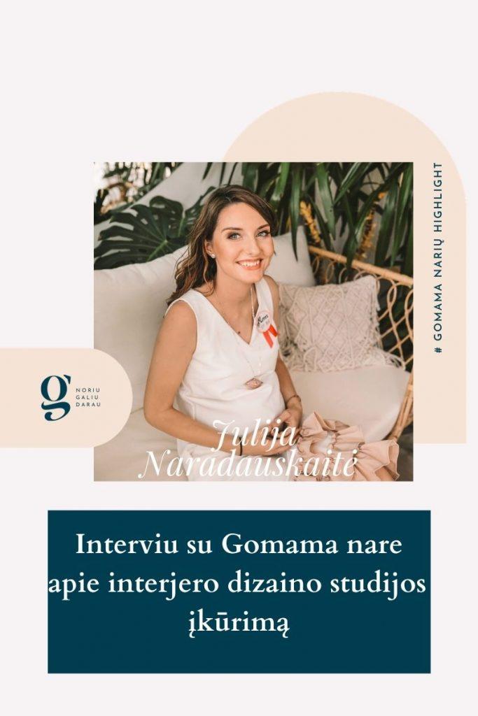 Julija Naradauskaitė IJANdesign gomama
