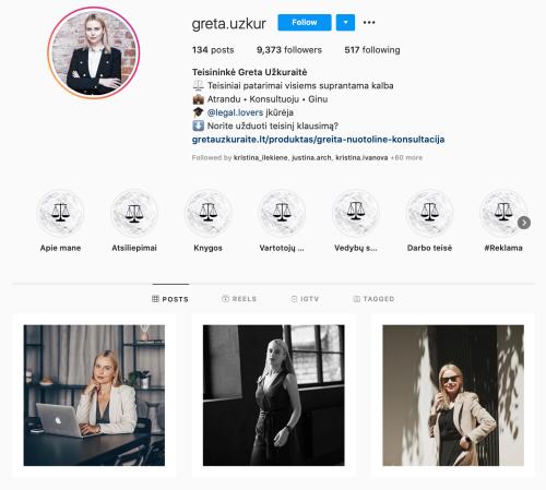greta uzkuraite veiklios mamos teisiniai klausimai instagram