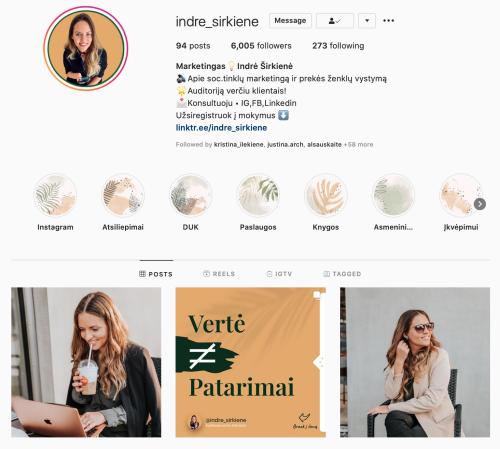 indre sirkiene Instagram veikli moteris kursai
