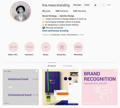 lina mass branding versli mama instagram