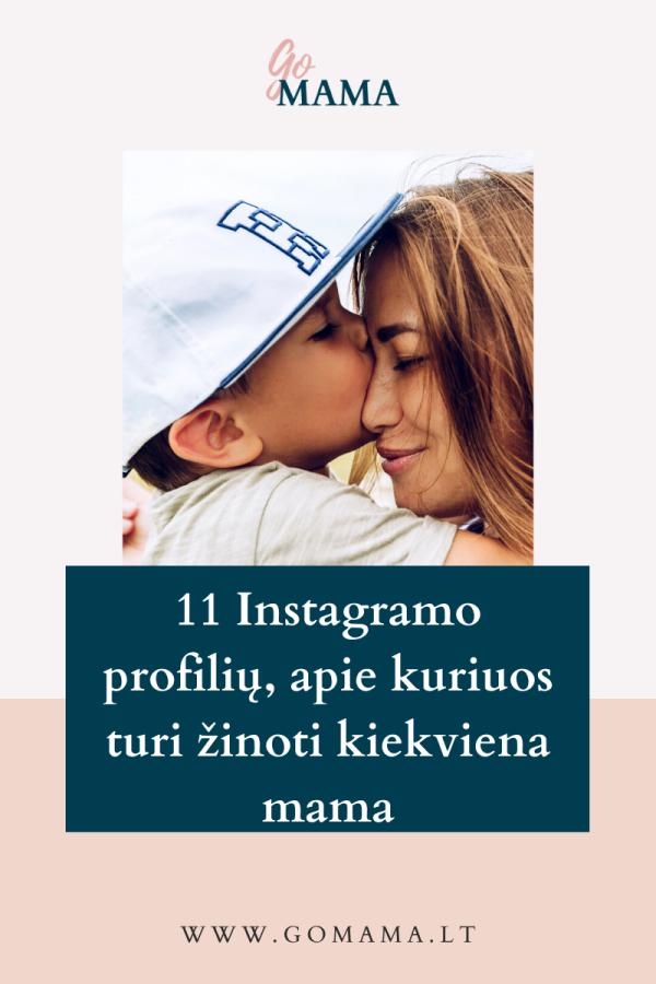 instagram profiliai verslios mamos gomama
