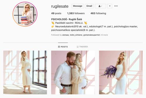 rugile sate veiklios mamos instagram