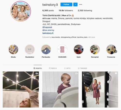 twinstory Toma Dambrauske verslios mamos instagram